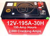 Lithium ion batteries for all makes RV, yachts, sailboats, dump trucks, earth moving equipment, waste recyclers and more...